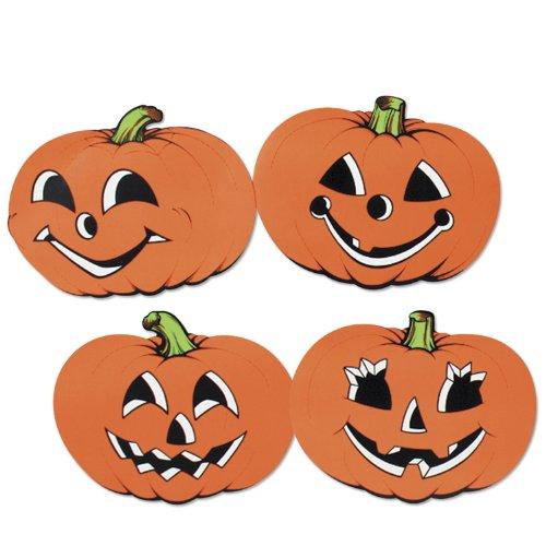 "Beistle 01057 Pumpkin Cutouts, 12"". 24 Cutouts Per Package."