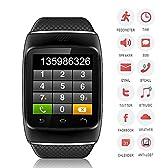 2014最新登場 ブルトゥース 腕時計男女兼用 電話掛ける/音楽プレーヤー/着信知らせ/時刻表示/置き忘れ防止/録音/目覚しい時計/万歩計多機能腕時計 android、iPhoneなどのマチルデバイスに対応