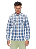 Pepe Jeans London Camisa Hombre Ruction (Azul)