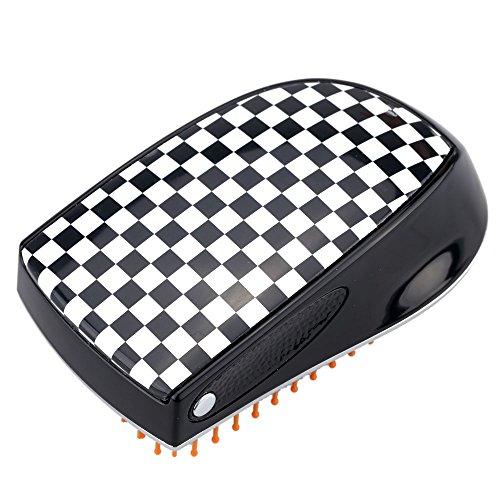 Anself Compact brosse à cheveux avec spray pulvérisation Peigne brosse de massage magique antistatique Peigne à cheveux bouclés