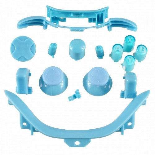 Custom Mod Kit D-Pad Rt Lt Rb Lb Abxy Start Back Sync And Trim For Xbox 360 Controller (Solid Light Blue)