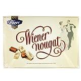 Wiener Nougat Milk Chocolate Candy with Soft Almond Praline 210g Gift Box by Karl Fazer