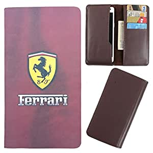 DooDa - For iberry Auxus Note 5.5 PU Leather Designer Fashionable Fancy Case Cover Pouch With Card & Cash Slots & Smooth Inner Velvet