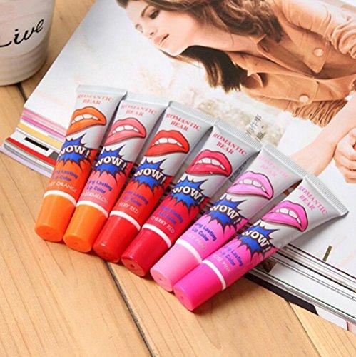 6 Colors Tattoo Magic Color Peel Off Mask Tint Long Lasting Waterproof Lip Gloss
