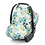 JJ Cole Car Seat Canopy, Blue Vine