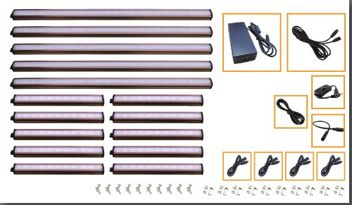 """5 X 36"""" Led Under Cabinet Light Complete Kit Cool White (3000K) - New With Diffusers"""