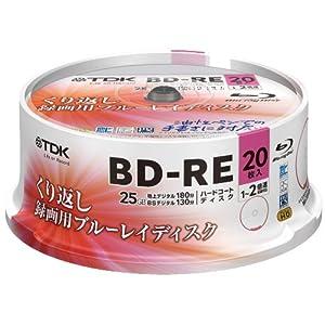 【Amazon.co.jp限定】TDK 録画用ブルーレイディスク BD-RE 繰り返し録画用 25GB 1-2倍速