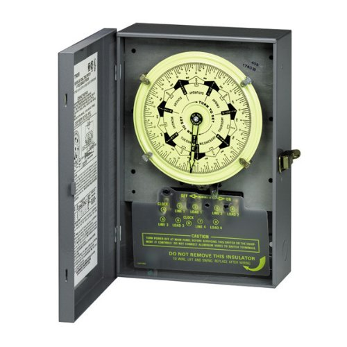 Intermatic T7401B 4Pst 125-Volt 7-Day Mechanical Time Switch With Nema 1 Indoor Cover