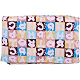 Baby Bucket Double Layer Velvet Fleece Newborn Printed 125cm X 155cm Size Baby Blanket(ABC Peach)