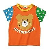 ミキハウス ホットビスケッツ(MIKIHOUSE HOT BISCUITS) お袖が可愛い☆キャラクター半袖Tシャツ 72-5201-676 70cm オレンジ