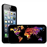 Fancy A Snuggle Paint Splash World Map Modern Art Clip On Back Cover Hard Case for Apple iPhone 5