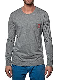 Diesel Men\'s Justin Long Sleeve Lounge Top with Pocket, Grey, Medium