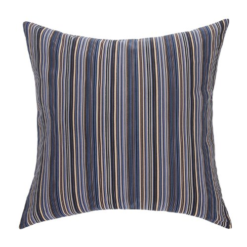 "Euphoria Home Decorative Cushion Cover Throw Pillow Case Shell Corduroy Stripes Blue Color 18"" X 18"" front-819479"