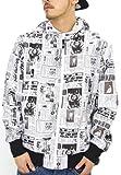 (ビリオネア ボーイズ クラブ)Billionaire Boys Club マウンテンパーカー メンズ 総柄 白 B0414X01 ホワイト M b系 hipohop ファッション