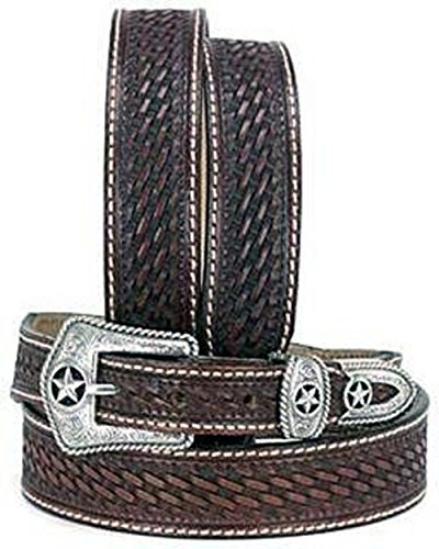 Justin Lone Star Hand Tooled Belt (Hand Tooled Belt compare prices)