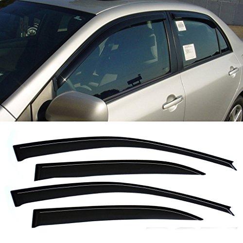 Mifeier Sun/Rain Guard Wind Deflector Vent Shade Window Visors For 03-08 Toyota Corolla 4pcs (2007 Toyota Corolla Vent Visors compare prices)