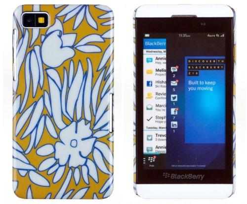 Blooming Flowers Hard Case For Blackberry Z10 + Dandycase Keychain Screen Cleaner [Retail Packaging By Dandycase]