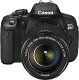 Canon EOS 650D SLR Digitalkamera (18 Megapixel, 7,6 cm (3 Zoll) Touch-Display, Full HD) Kit inkl. EF-S 18-135 IS STM Objektiv schwarz