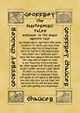 A4 Size (11.7 inches x 8.3 inches or 29.7 x 21 cm) Parchment Card Poster Geoffrey Chaucer Canterbury Tales The Nuns Priests Tale Epilogue
