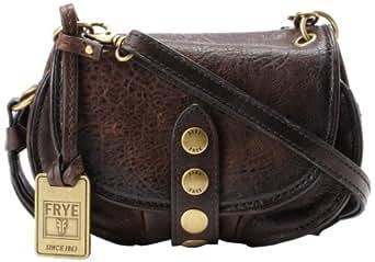 Frye Elaine Vintage Crossbody Cross Body Dark Brown Antique Pull Up One Size