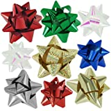 36pc Designer Holiday Christmas Gift Bow Assortment - Elegant Metallic, Iridescent, Holographic, Glitter, Lacquer Finishes
