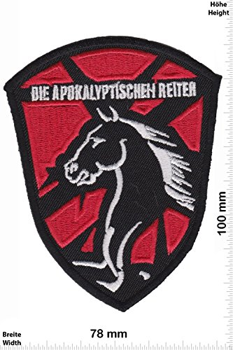 Patch - Die Apokalyptischen Reiter - HQ Black- Death- Thrash- und Power Metal - Rock and Folk - MusicPatch - Rock - Chaleco - toppa - applicazione - Ricamato termo-adesivo - Give Away