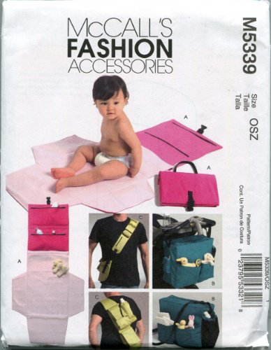 Mccall'S Sewing Pattern M5339 One Size Diaper Bags And Changing Kit front-921066