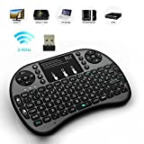 Rii i8+ Mini 2.4GHz Wireless 2.4G Touchpad Keyboard with Mouse for PC, PAD, XBox 360, PS3, Google Android TV Box, HTPC, IPTV (Black)