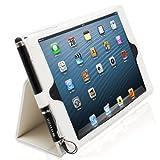 Snugg社 iPad Miniレザー ケースカバー・フリップスタンド - 伸縮性ストラップ付き、内部は最高級ヌバックファイバー(ホワイト) - iPad Miniが自動的に立ち上がり、休眠状態に。あのベストセラーiPad 2&3ケース の米国Snugg社より。