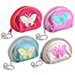 Girls Butterfly Coin Purse Assorted