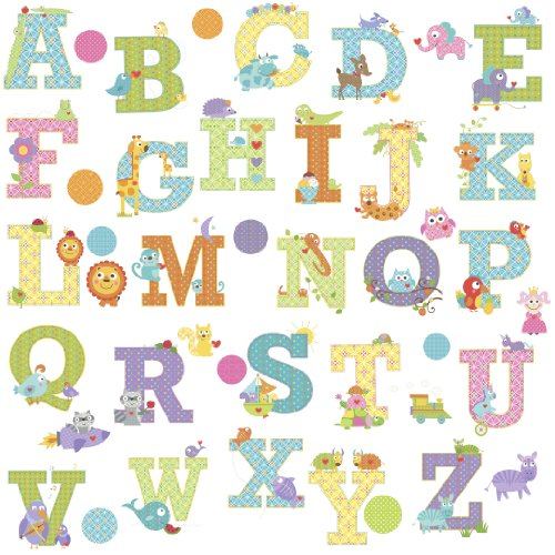 RoomMates RMK2334SCS  Animal Alphabet Dena Designs Peel and Stick Wall Decals - 1