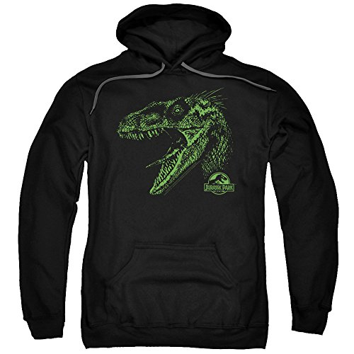 Jurassic Park Dinosaur Movie Spielberg Raptor Mount Adult Pull-Over Hoodie