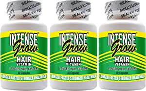 Click Here For Great Long Hair Growth Vitamins - Intense Grow 3-pack