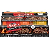 Purina ALPO Brand Dog Food Chophouse Originals With Filet Mignon and Bacon Flavors/Roasted Chicken and Top Sirloin Flavors Variety Pack Wet Dog Food, 13.2-Ounce Cans, Pack of 12