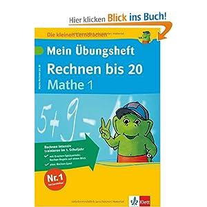 eBook Cover für  Die kleinen Lerndrachen Mein 220 bungsheft Rechnen bis 20 Mathematik 1 Klasse