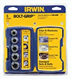 Irwin Industrial Tools 394001 Bolt-Grip Bolt Extractor Base Set, 5-Piece