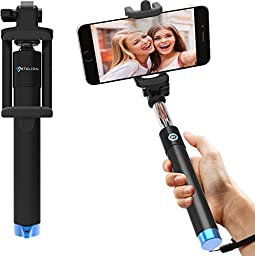 Selfie Stick: Stalion® Selfy Handheld Extendable Bluetooth Monopod Portrait Taker & Video Recorder (Cyan Blue) UNIVERSAL FIT for iPhone 6s Plus Samsung Galaxy S7 S6 Edge+ Note 5 & Smartphones