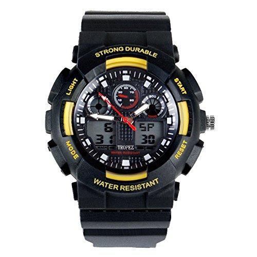 Tropez Outdoor Analog Digital Dual Time Unisex Sports Watch Yellow