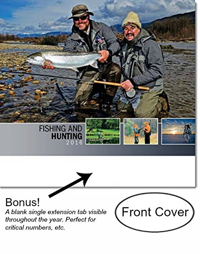 Fishing and hunting 2016 wall calendar 18 5 x 10 5 open for Hunt fish calendar
