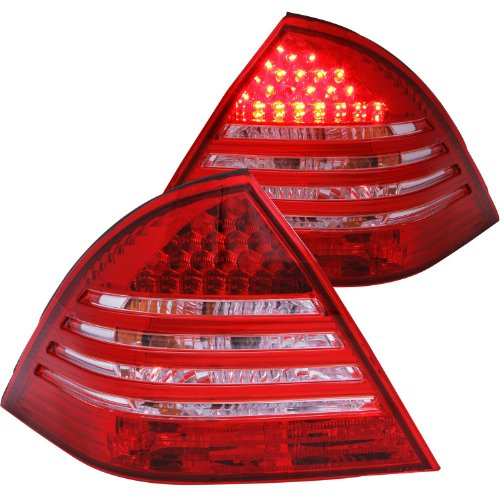 Anzo Usa 321048 Mercedes-Benz Crystal Lens Red/Clear Led Tail Light Assembly - (Sold In Pairs)