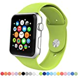Apple Watch Band,Covery Soft Silicone Fitness Replacement Sport Band For Apple Watch (38mm/Green)