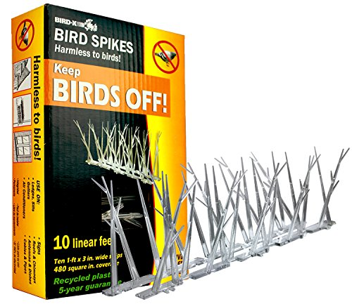 Bird-X SP-10-NR Plastic Narrow Bird Spikes 10 foot Kit with Adhesive Glue image