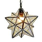 Homestia 星の形 透明 レトロペンダントライト 吊り下げ照明 アンティーク風 口金E27