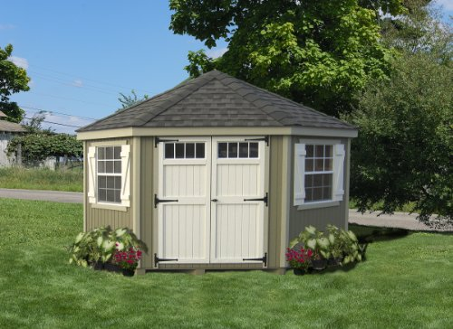 10 x 10 5 Sided Colonial Garden Shed Panelized Kit