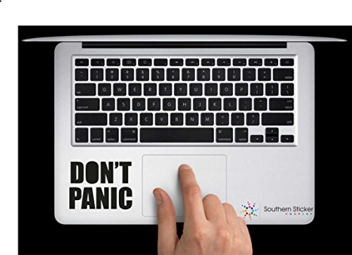 Don't Panic Vinyl Car Sticker Symbol Silhouette Keypad Track Pad Decal Laptop Skin Ipad Macbook Window Truck Motorcycle (Panic Cycles compare prices)