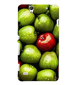 ASSORTED APPLES PIC 3D Hard Polycarbonate Designer Back Case Cover for Sony Xperia C4 Dual E5333 E5343 E5363 :: Sony Xperia C4 E5303 E5306 E5353