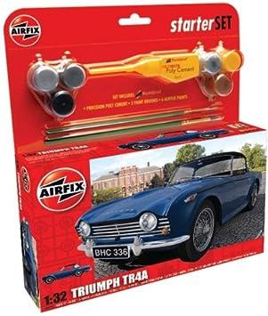 Airfix - A50092 - Maquette - Medium Starter Set - Triumph TR 4A - Echelle 1:32