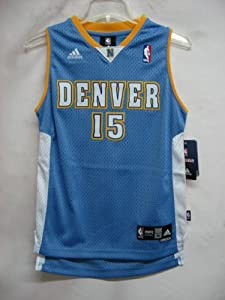 Carmelo Anthony Denver Nuggets LIGHT BLUE NBA YOUTH Swingman Jersey (Large 14/16)