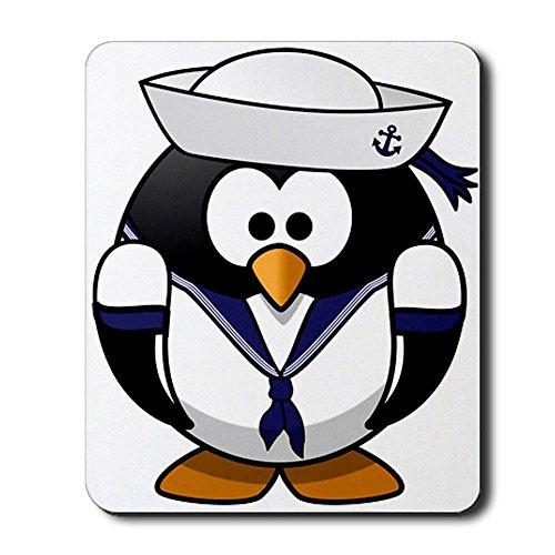 Mousepad (Mouse Pad) Little Round Penguin - Navy Sailor