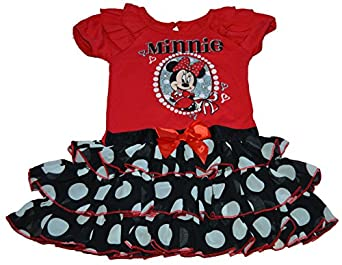 Disney Minnie Mouse Polka Dot W/ Bow Flounce Dress Infant/toddler